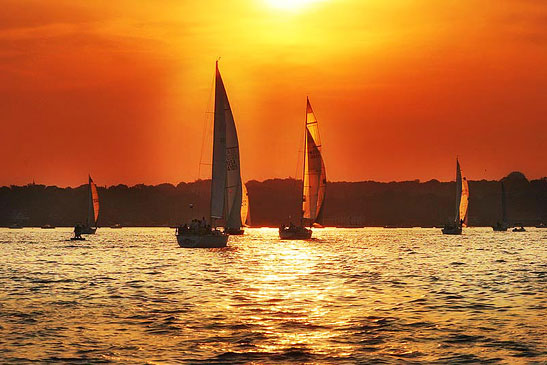 Sunset Sailing on the Long Island Sound